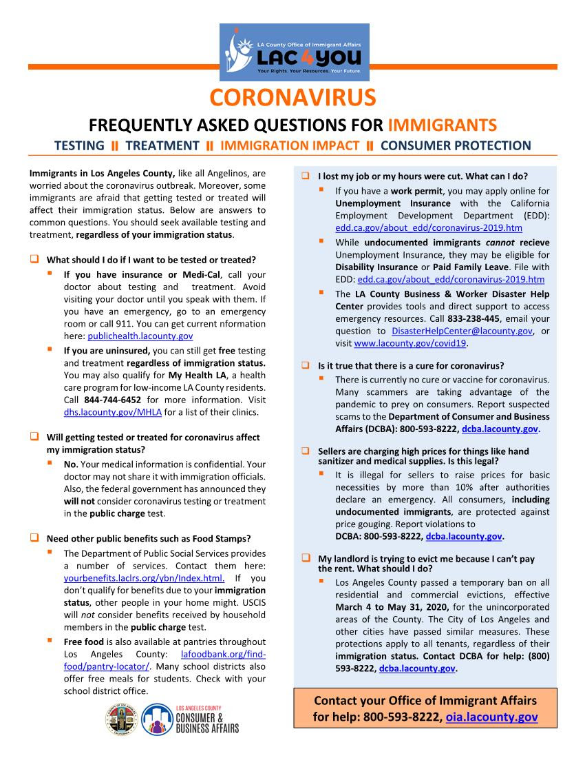 FAQ Uninsured Immigrant Healthcare