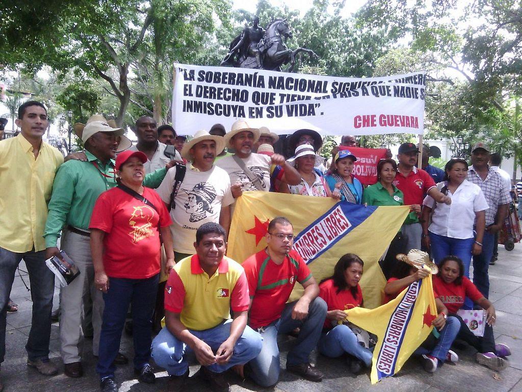Campesinos de Venezuela rechazan agresión imperialista