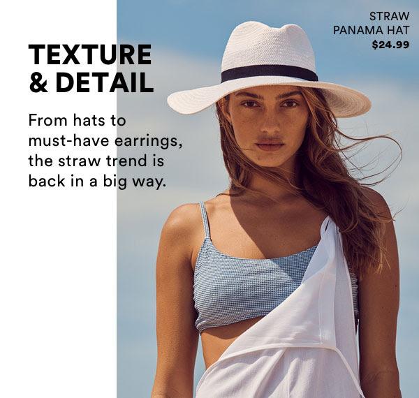 Straw Panama Hat $24.99