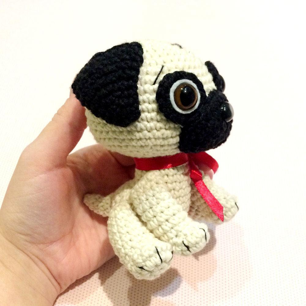 Bébé chien de roquet de motif crochet - PDF imprimable