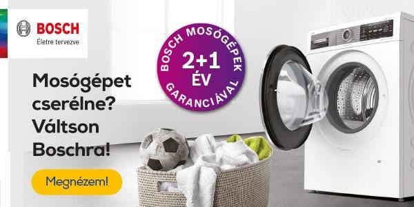 Kedvezmények hete - Bosch mosógépek 2+1 év garanciával