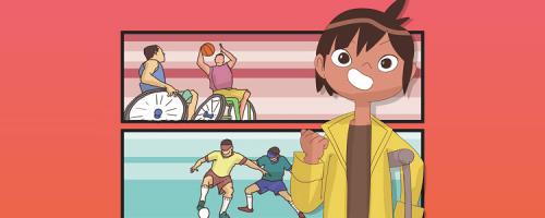 """A obra faz parte da coleção """"Heróis"""", da autora Bia Monteiro pela Editora Evoluir, e traz informações sobre os jogos olímpicos e paralímpicos"""