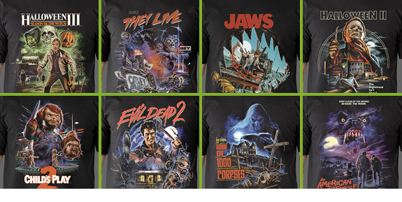 FRIGHT-RAGS HORROR T-SHIRTS