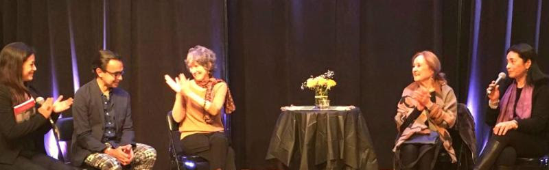 Thanking Elliott Ortiz for hosting Rina Lazo at ArtSpace