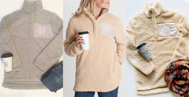 Monogrammed Sherpa Pullover!