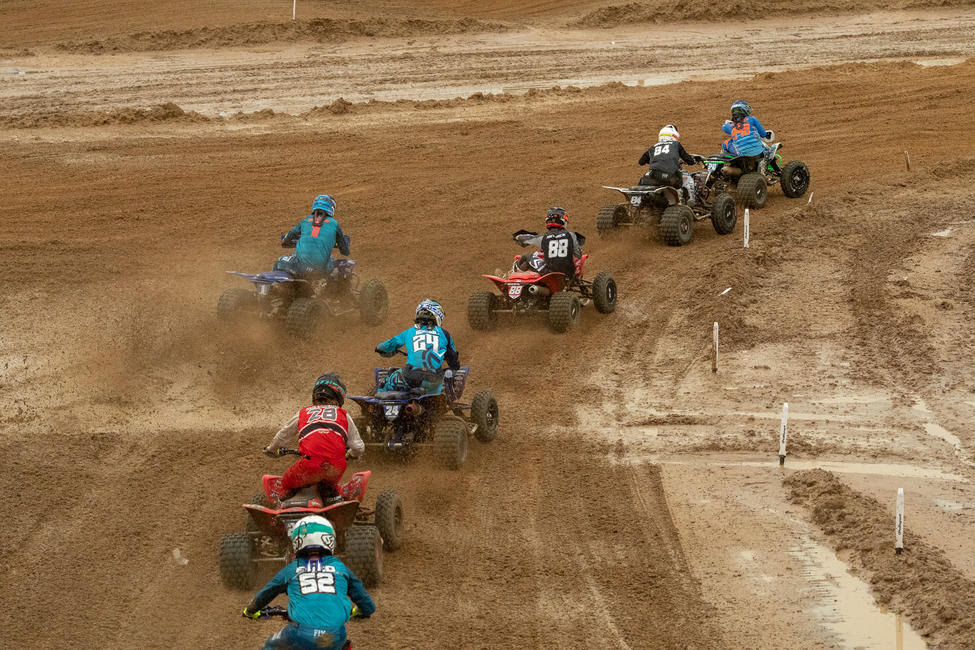 Dylan Tremellen led the field in moto two as he grabbed the holeshot and early lead.
