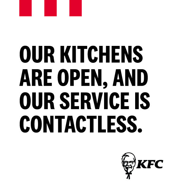 Our kitchens are open
