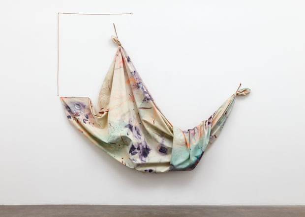 Swing Sketch, 1968, one of Sam Gilliam's innovative 'drape' paintings.