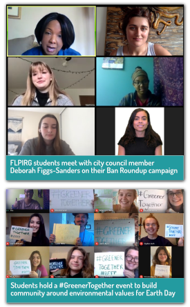 Virtual actions by student leaders