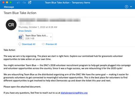 Abbildung 1: E-Mail-Köder mit infiziertem Dateianhang zur Verbreitung der Emotet-Malware