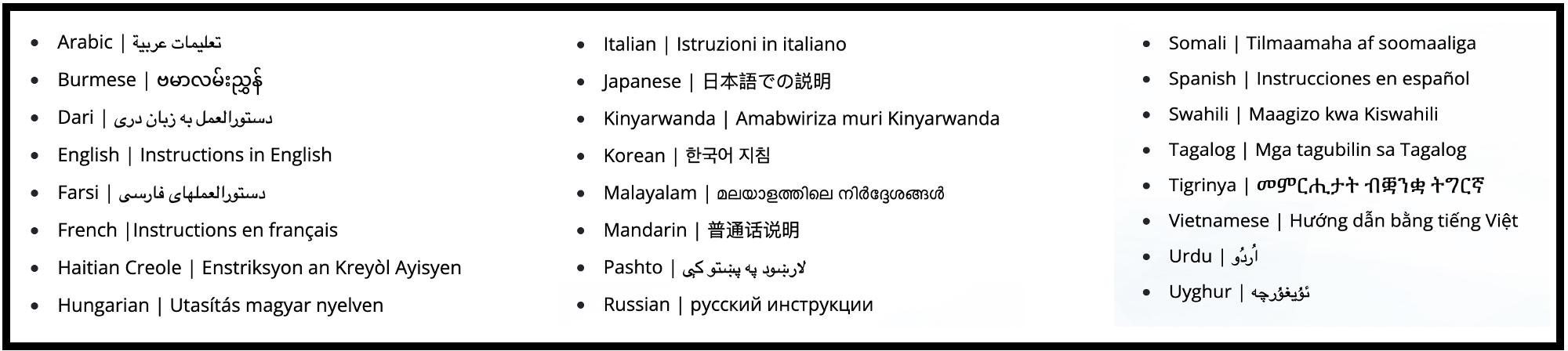 TARJIMLY volunteers help with many languages