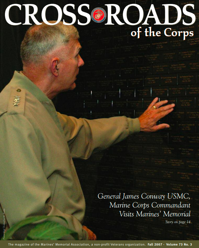 General James Conway visits the Wall