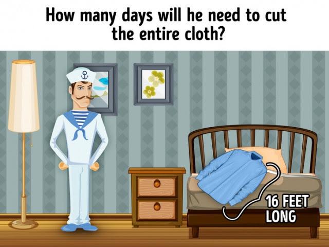 4. Cần bao nhiêu ngày để cắt toàn bộ mảnh vải?,câu đố,trắc nghiệm