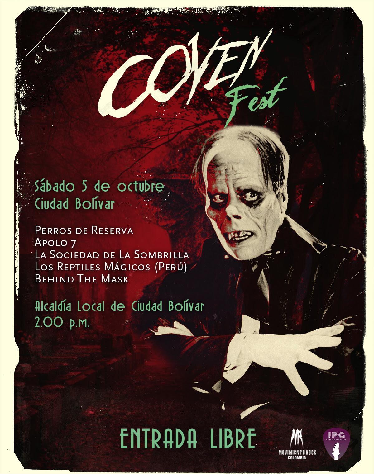 Halloween inicia temprano en Bogotá con el COVEN FEST de PERROS DE RESERVA
