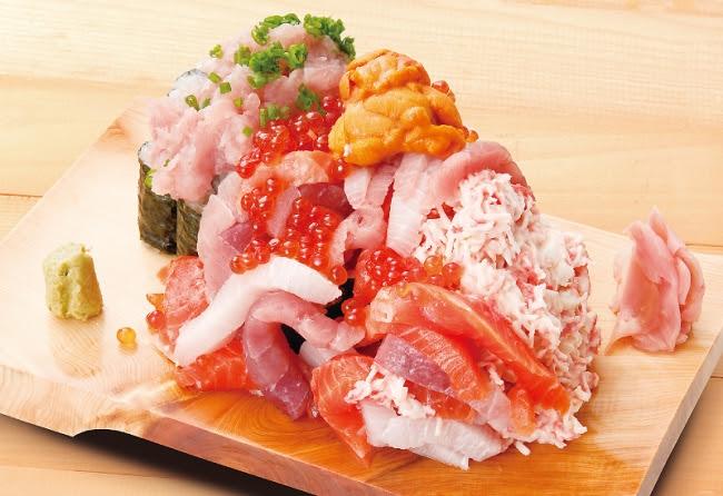 「ぶっかけ寿司こぼれ盛り」1,200円(税別)