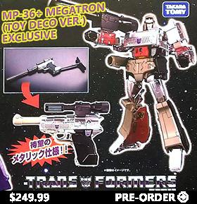 Transformers Masterpiece MP-36+ Megatron (Toy Deco Ver.) Exclusive (With Orange Barrel Plug)