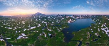 Kambalnoe Lake at sunset, Kamchatka, Russia