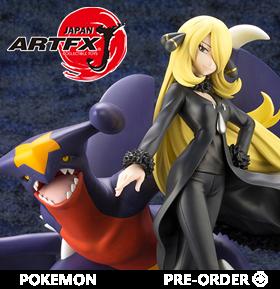 Pokemon ArtFX J Cynthia With Garchomp Statue