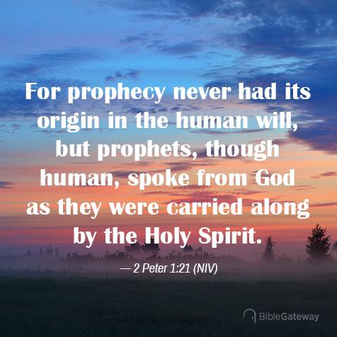 Read 2 Peter 1:21 on Bible Gateway.