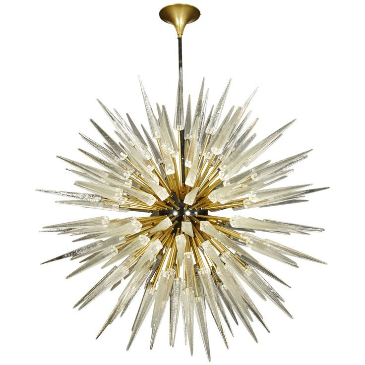 Rare pair of Murano glass chandeliers by Barovier e Toso | From a unique collection of antique and modern chandeliers and pendants  at http://www.1stdibs.com/furniture/lighting/chandeliers-pendant-lights/