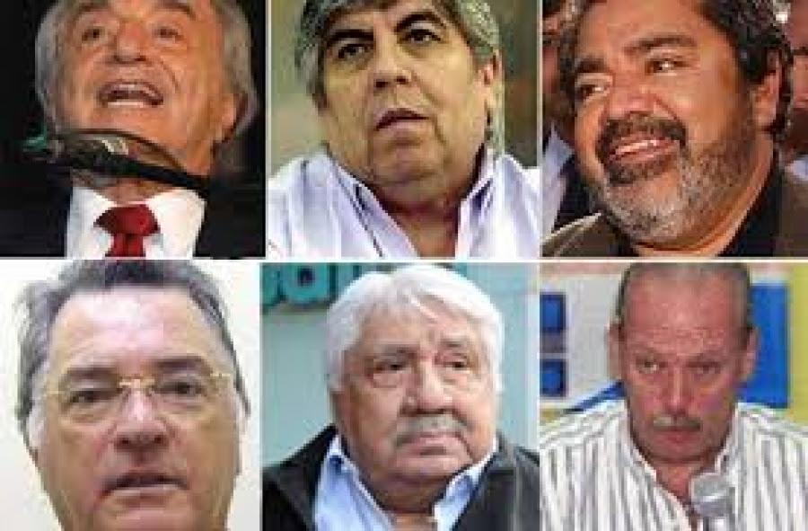 Dirigentes de las diferentes centrales de trabajadores de la Argentina