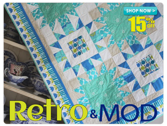 15% off All Retro & Mod Fabrics