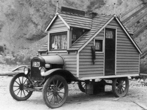 Mobile                                                          Home -                                                          Photographic                                                          Print - 1926: