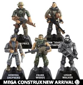 Call of Duty Mega Construx Heroes Set of 5 Figures