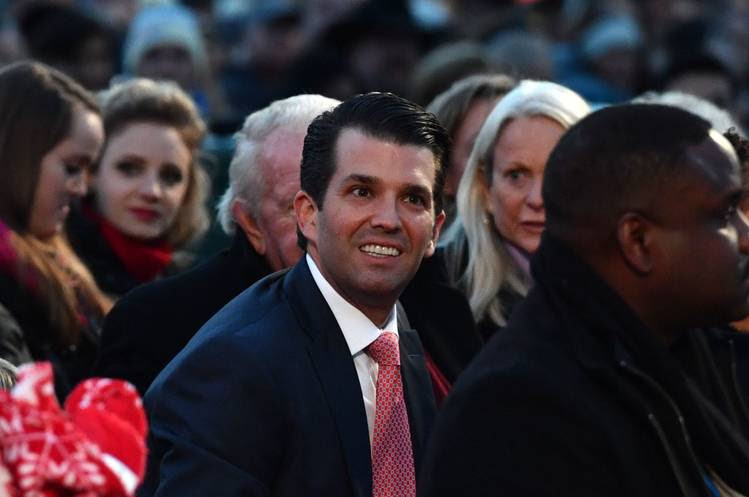 Donald Trump Jr. attends the 95th annual National Christmas Tree Lighting ceremony. (Nicholas Kamm/Getty Images)