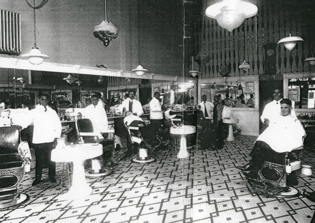Most black barbershops catered only to whites in the late 19th century. Via the Library of Congress.