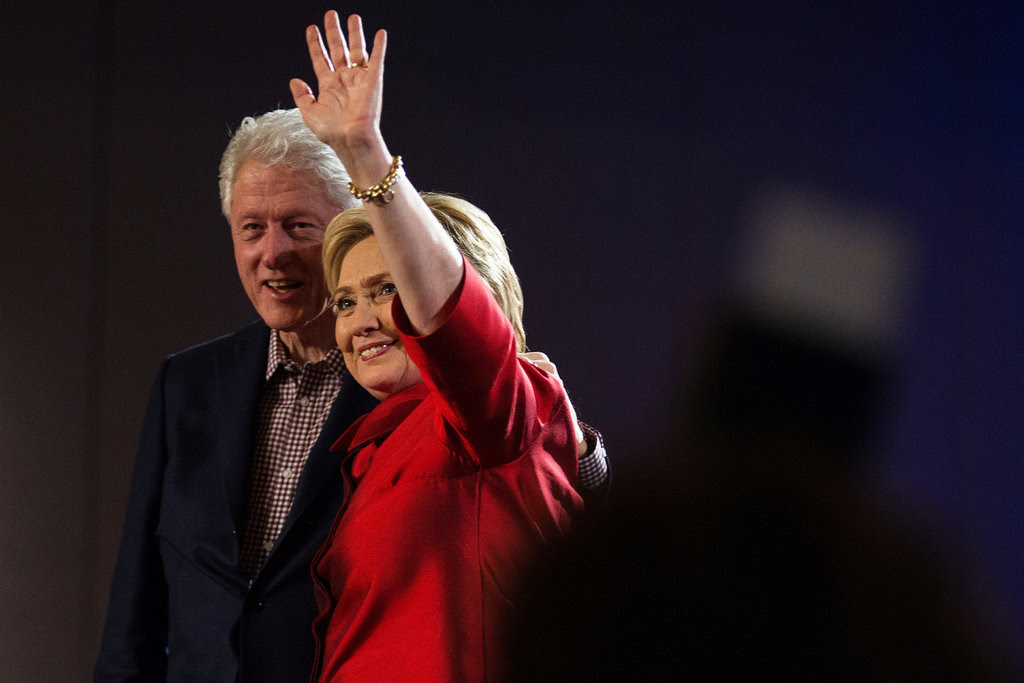 Hillary Clinton thanked supporters during a speech at Caesars Palace in Las Vegas on Saturday, after her victory in the Nevada caucuses.