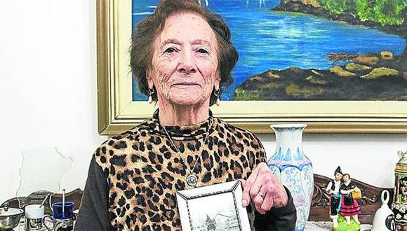 Hortensia Adura, la abuela de Gudo