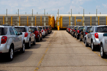 A General Motors plant in Oshawa, Canada. The company agreed to cease manufacturing at an engine factory in Mexico.