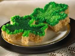 rice crispy shamrocks