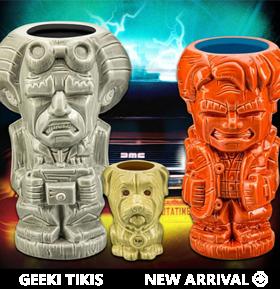 Back to the Future Geeki Tikis Set of 3 Limited Edition Mugs