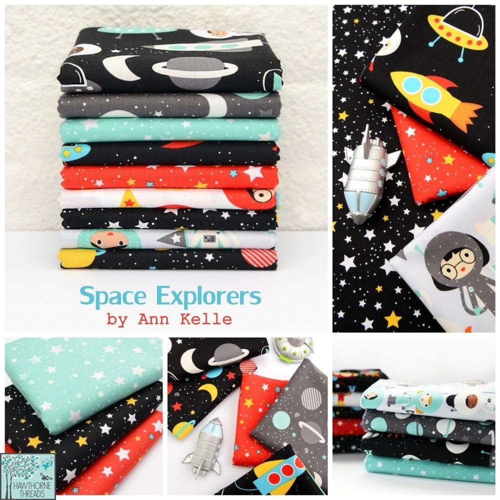 Ann Kelle Space Explorers Fabric Poster