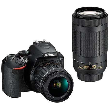 D3500 DX-Format DSLR Camera Body - Black, with AF-P DX NIKKOR 18-55mm F/3.5-5.6G VR, AF-P