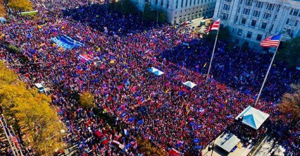 Washington DC 'bùng nổ': Hơn 1 triệu người ủng hộ TT Trump đổ về tuần hành