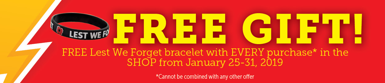 Free Lest We Forget Bracelet!