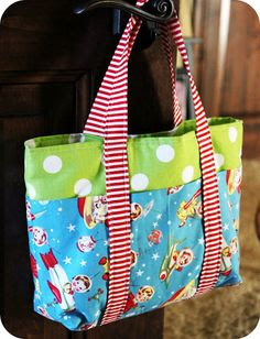 Kids tote bag tutorial
