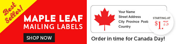 Best-Selling Maple Leaf Mailing Labels!
