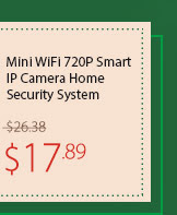 Mini WiFi 720P Smart IP Camera Home Security System
