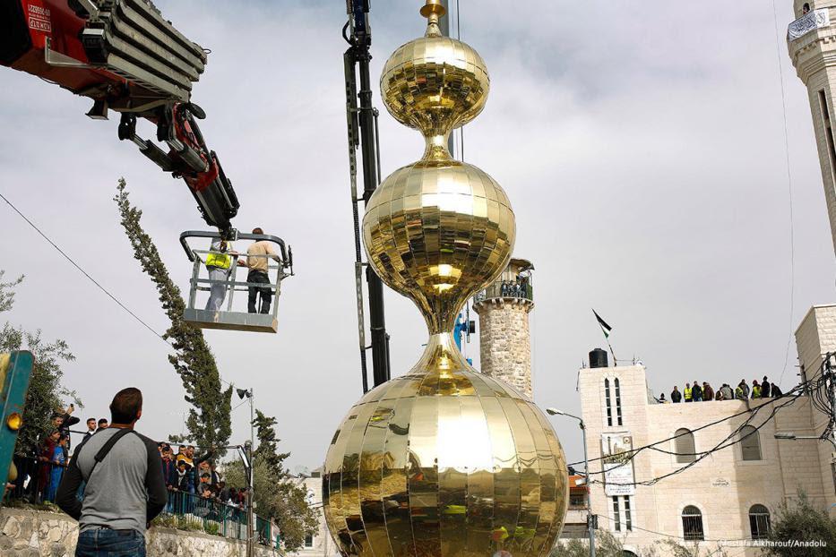 Palestinos construyen el minarete más alto de Jerusalén en desafío a la ley de limitación de la llamada a la oración