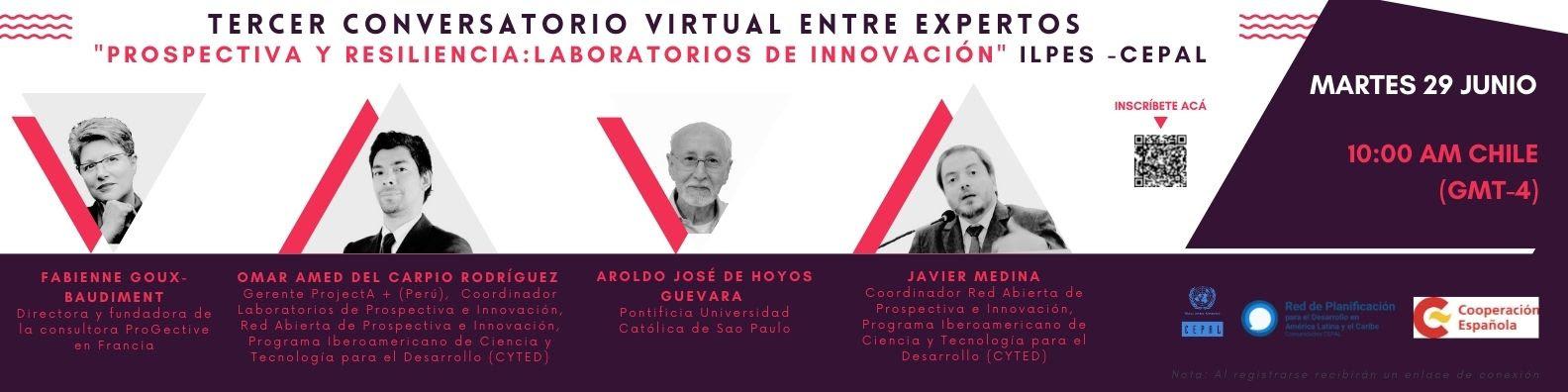 Tercer conversatorio virtual entre expertos Prospectiva y Resiliencia: Laboratorios de Innovación