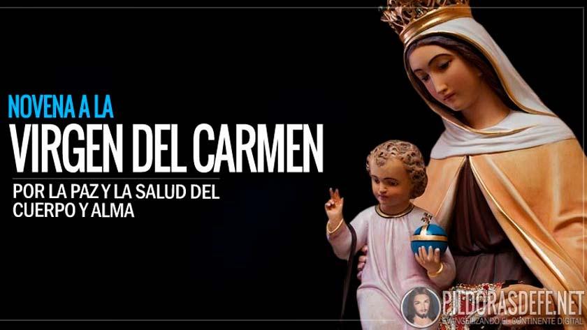 Novena a la Virgen del Carmen por la paz y por la salud