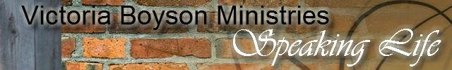 Victoria Boyson Ministries Newsletter
