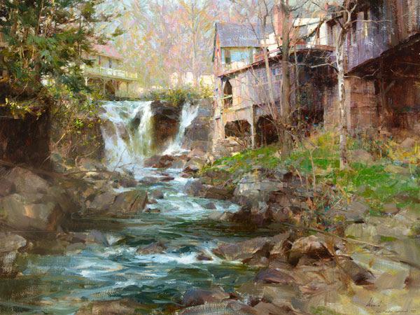 Richard Schmid, New Preston Falls II, 1989; Estimate $100,000-150,000