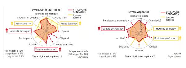 graphique Vitilevure Sensation