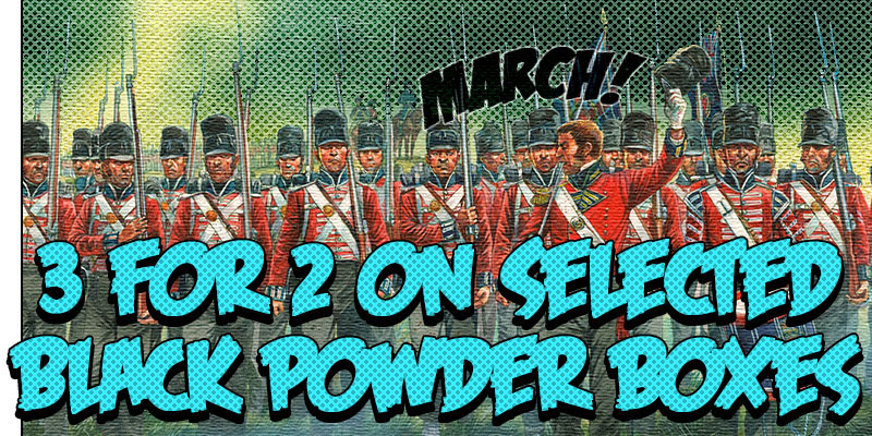 Black Friday Sale 3 for 2 on Selected Black Powder Boxes