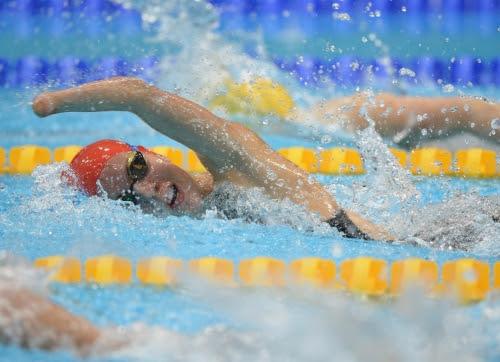Na classe S11, os atletas utilizam óculos opacos que asseguram a igualdade de condições entre todos os nadadores